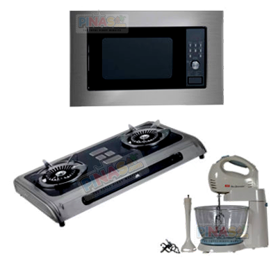Home Appliances Package 3 (Microwave Oven + Stand Mixer + Gas Stove)