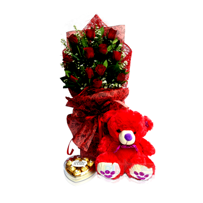 CheChe (Flowers + Chocolates + Teddy Bear) - Pinas
